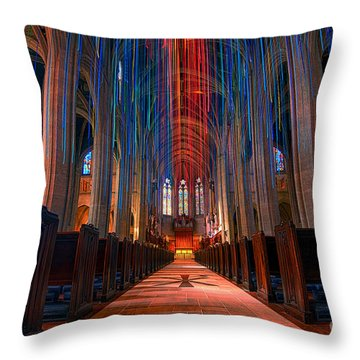 Grace Cathedral San Francisco Throw Pillow