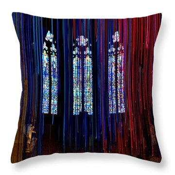 Grace Cathedral With Ribbons Throw Pillow