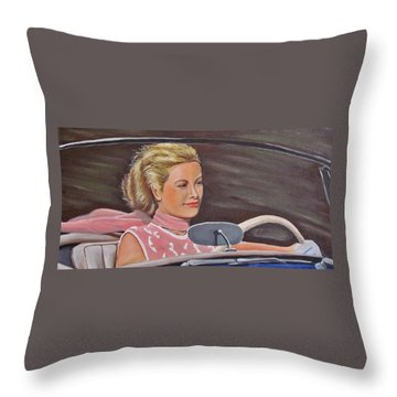 Grace Kelly - To Catch A Thief Throw Pillow