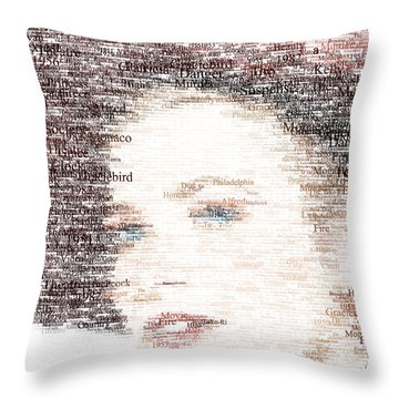 Grace Kelly Typo Throw Pillow by Taylan Apukovska
