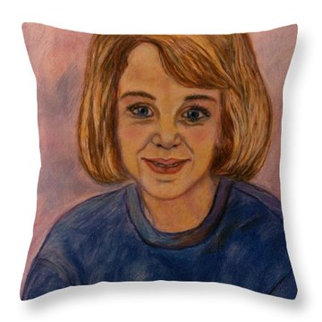 Grace Mahin Throw Pillow by Kendall Kessler