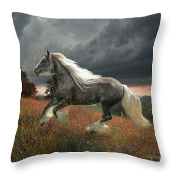 Grace On The Wind Throw Pillow