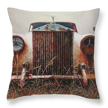 Grace - Rolls Royce Throw Pillow