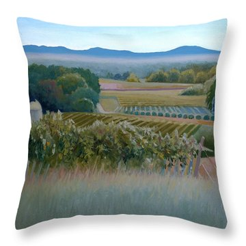 Grace Vineyards No. 1 Throw Pillow by Catherine Twomey