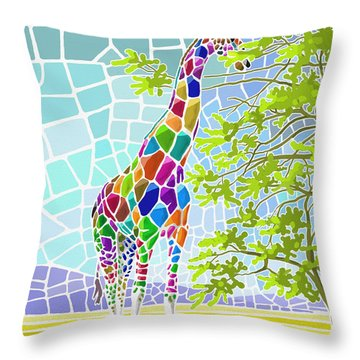 Throw Pillow featuring the painting Graceful by Anthony Mwangi