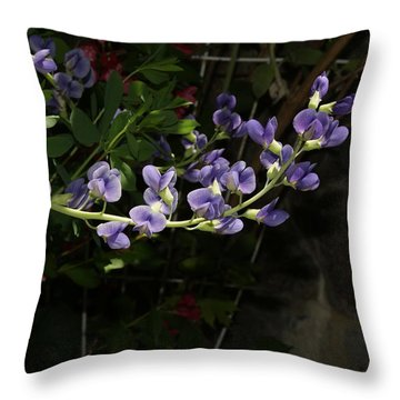 Graceful  Blossoms Throw Pillow