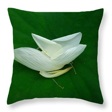 Graceful End Throw Pillow