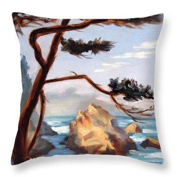 Graceful Pine Pt. Lobos Throw Pillow by Karin  Leonard