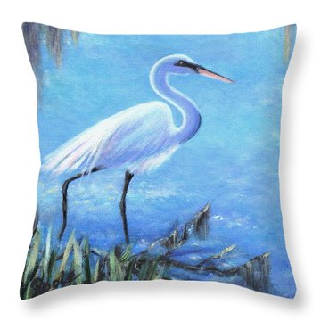 Graceful Stroll At Magnolia Gardens Throw Pillow