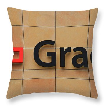 Grady Hospital Atlanta Georgia Art Throw Pillow
