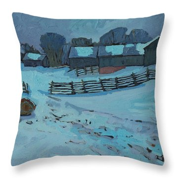 Grady Road Farm Throw Pillow
