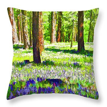 Graeagle Lupine-2 Throw Pillow