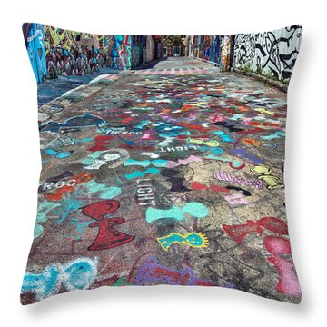Graffiti 3 Throw Pillow