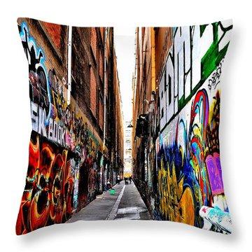 Graffiti Alley - Melbourne - Australia Throw Pillow