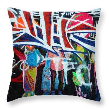 Graffiti Art Throw Pillow