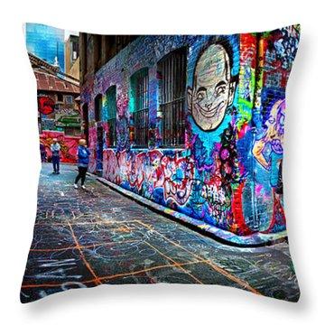 Graffiti Artist Throw Pillow