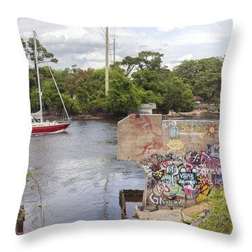 Graffiti Bridge Image Art Throw Pillow