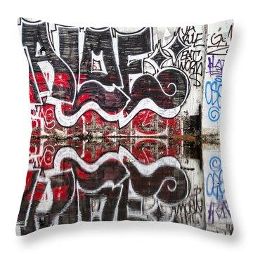 Graffiti Throw Pillow by Carol Leigh