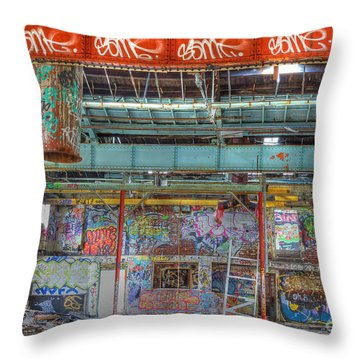 Graffiti Gallery Throw Pillow by David Birchall