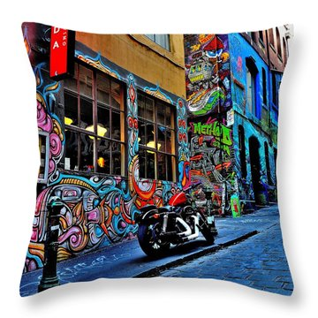 Graffiti Harley Shoes - Melbourne - Australia Throw Pillow