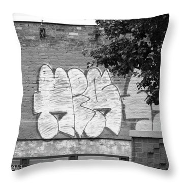 Throw Pillow featuring the photograph Graffiti Nyc by Ann Murphy