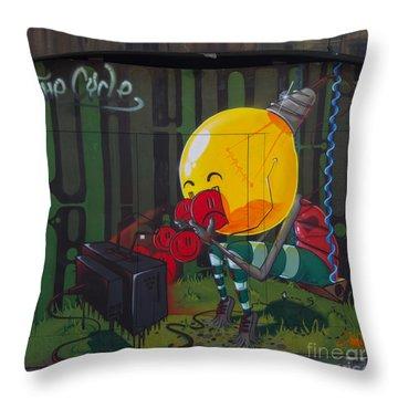Graffiti Stokes Croft Throw Pillow by Brian Roscorla