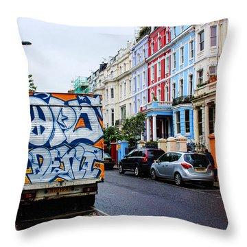 Grafitti Truck Throw Pillow by Nicky Jameson