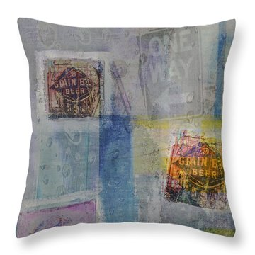 Grain Bell Beer Art Throw Pillow