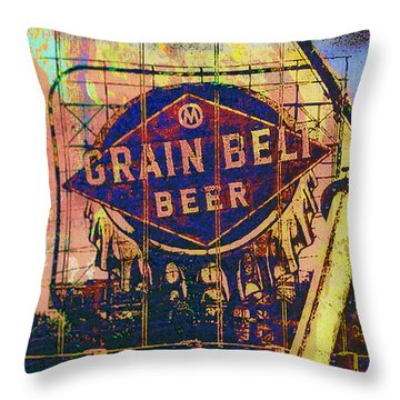 Grain Belt Beer Throw Pillow