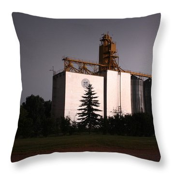Grain Elevator Throw Pillow
