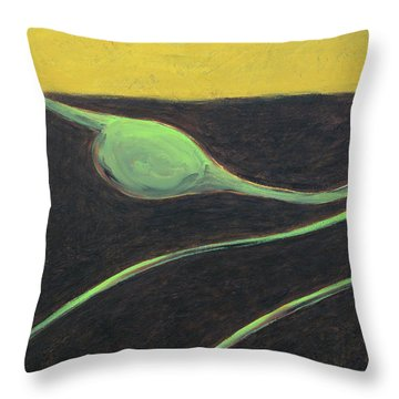 Grain Emanation Throw Pillow