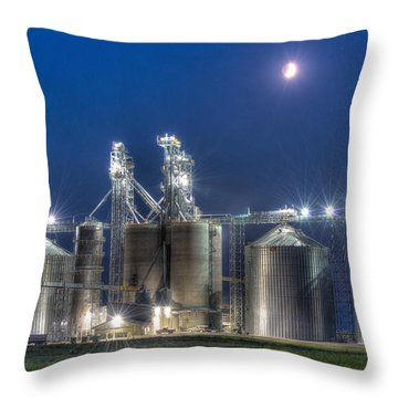 Grain Processing Plant Throw Pillow by Paul Freidlund