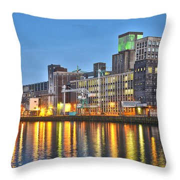 Grain Silo Rotterdam Throw Pillow