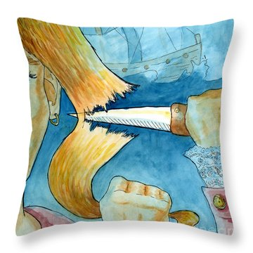 Grainne Mhaol Throw Pillow