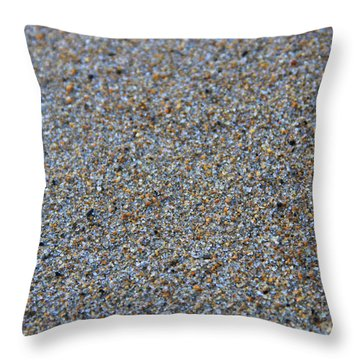 Grainy Sand Throw Pillow by Michael Mooney