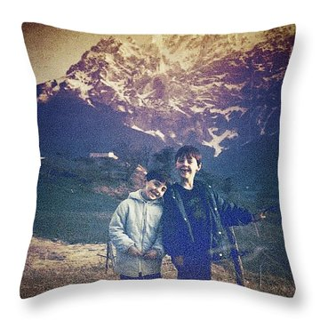 Gran Sasso Throw Pillow by Beth Williams