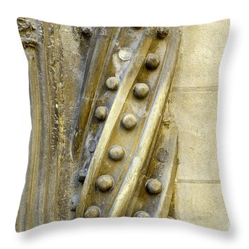 Granada Cathedral Doors And Other Details Throw Pillow by Guido Montanes Castillo