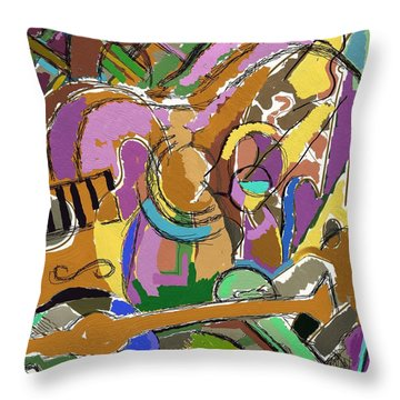 Throw Pillow featuring the digital art Granada by Clyde Semler