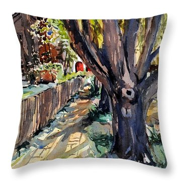 Granary Street New Harmony Indiana Throw Pillow by Spencer Meagher