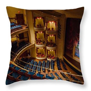 Grand 1894 Opera House - Galveston Throw Pillow