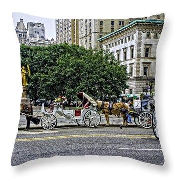 Grand Army Plaza - Manhattan Throw Pillow by Madeline Ellis