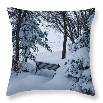 Grand Beach Solitude Throw Pillow by Joanne Smoley