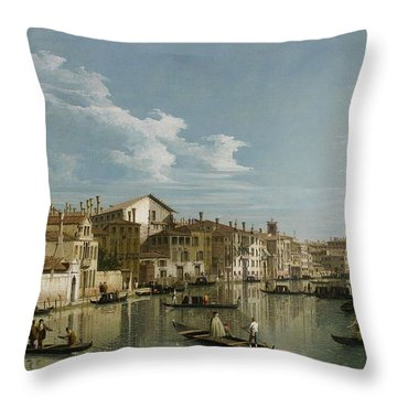 Grand Canal From Palazzo Flangini To Palazzo Bembo Throw Pillow by Canaletto