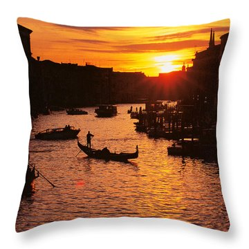 Grand Canal In Venice Throw Pillow by Yue Wang