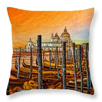 Grand Canal Venice Throw Pillow by Graham Hawcroft pixsellpix