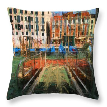 Throw Pillow featuring the photograph Grand Canal Venice by Jack Torcello