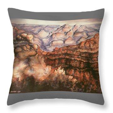 Grand Canyon Arizona - Landscape Art Painting Throw Pillow