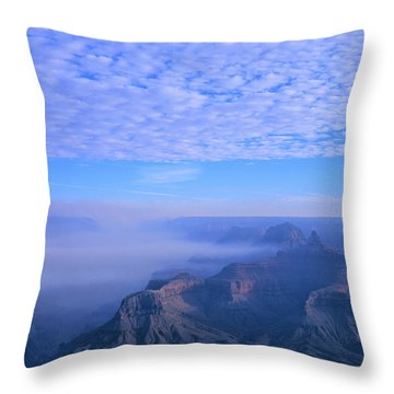Grand Canyon Blues Throw Pillow by Alex Cassels