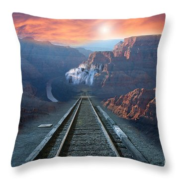 Throw Pillow featuring the photograph Grand Canyon Collage by Gunter Nezhoda