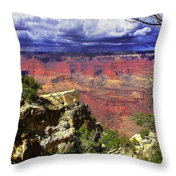 Throw Pillow featuring the photograph Grand Canyon by Craig T Burgwardt